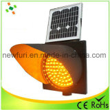 Luz de advertência do tráfego ambarino solar da luz de piscamento