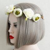 Bandeau floral de Boho de guirlande de cheveu de mariage de festival de guirlande de fleur de Hairband d'usager de lavande de filles