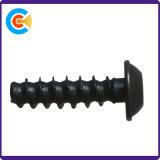 Zinc negro chapado de M3*14 tornillos de rosca chapa con la arandela