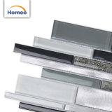 Spät konzipierte dekorative schöne dunkle graue Streifen Glass&Metal Mosaik-Fliese