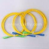 Sc-Sc Sm G652D дуплексный оптоволоконный кабель перемычки с зажимом для двусторонней печати и цифровой идентификации