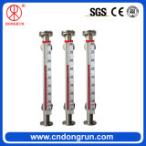 Calibrador llano líquido Cara-Montado Uhz-99A del agua magnética