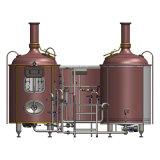 Strumentazione di preparazione della birra dell'acciaio inossidabile con una fabbrica di birra delle due imbarcazioni/l'apparecchiatura di bollitura del mosto/macchina di rame 300L/500L/1000L/2000L/3000L di preparazione della birra acciaio inossidabile