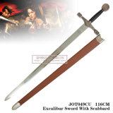 Rei Arthur Espada com a espada de Excalibur da chapa com bainha 116cm Jot049cu