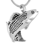 [ستينلسّ ستيل] سمكة شكل يرمّد ترميد جرّة عقد