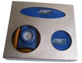 De Katoenen van de Sporten van het Embleem van de douane Band van het Zweet met Digitaal Horloge