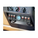 Los 6 paneles de arriba del kit de la vaina del interruptor de eje de balancín/del cableado del panel con el voltímetro de Digitaces de las asambleas del rectángulo del relais del sistema del control y de la fuente para el Wrangler del jeep