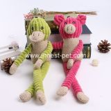 Maiale della Cina del rifornimento di prodotto dell'animale domestico e giocattolo svegli del cane della peluche dell'anatra