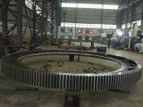 Anillo giratorio del engranaje del OEM de la forja del engranaje grande del bastidor con trabajar a máquina