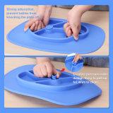 Bébé non-toxique monopièce de silicones alimentant la plaque de Placemat