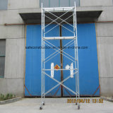 Échafaudage à châssis passager sécurisé SGS pour la construction