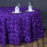 ポリエステルは最も遅くのあたりの3Dロマンスのロゼットのテーブルクロスを促す