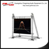 ферменная конструкция стойка ворот размера 10mx8m, стойка ферменной конструкции экрана СИД