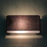 Gaststättequadratischer Brown-Farben-Gewebe-Wand-Lampen-moderner einfacher Innenentwurf