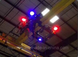 120W Punto azul y rojo línea Grúa foco LED de aviso