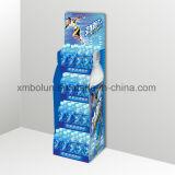 Piso de la publicidad pop Imprimir expositor de cartón para bebidas supermercados