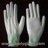 белая раковина полиэфира 13-Gauge с перчатками покрытия PU