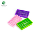 100% Platinum Caixa de cubos de gelo de Silicone Europa LFGB 15 Grid