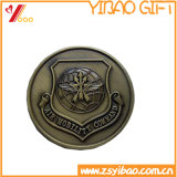 pièce de monnaie molle argentée en métal de l'émail 3D pour le souvenir (YB-c-002)