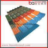 Ral Farbe vorgestrichenes gewölbtes Stahlblech für Dach