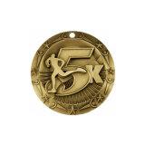 Los fabricantes de 2017 Comercio al por mayor de la medalla de deporte personalizadas con la medalla de metal, Medalla de Oro, corriendo la Maratón de medalla medalla (YB-M-001).