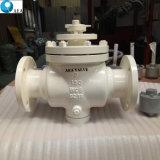 Electric API 6D de entrada superior embridado montado en el muñón flotante acciona la válvula de bola de control