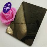 Наружное зеркало заднего вида PVD черного цвета с покрытием 8K покрытие 304 4X8 декоративной цветной лист из нержавеющей стали