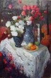 Dipinti ad olio di fiori impressionisti