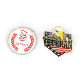 Plata personalizada troqueladas insignia de solapa de Artesanía de metal, metal esmaltado con auditorías Platedpassing Insignia de Oro