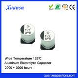 6.3V 100UF 125º Condensador electrolítico de alta temperatura de C SMD