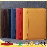 Haute qualité portable personnalisé à couverture rigide pleine couleur Diary avec fermeture à glissière