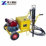 Divisor de pedra hidráulico com o motor Diesel e elétrico