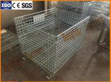 Оцинкованный промышленности складной металлический провод сетка отсек для хранения