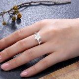 2018 новейшей конструкции 925 серебристые цветы кольцо для проведения свадеб участия