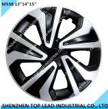 """Nuevo plástico dos colores de la rueda de coche universal cubre en 13""""14""""15"""""""