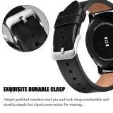 Samsung 기어 S3 시계 줄 22mm를 위한 고품질 진짜 가죽 시계 결박
