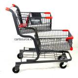 Dos canastas de estilo americano supermercado Compras con asiento de bebé