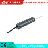 fonte de alimentação Htl do interruptor do transformador AC/DC do diodo emissor de luz de 12V 1A 20W
