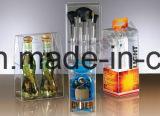Rectángulo de empaquetado cosmético plástico transparente impermeable de PVC/Pet/PP