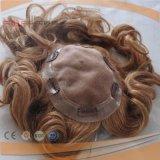 100% 브라질 실제적인 머리 PU 국경 Toupee (PPG-l-0467)
