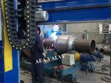 O aço forjado soldou inteiramente a válvula de esfera montada eixo
