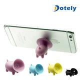 Mini cerdo Ventosa Soporte Soporte para teléfono celular de silicona