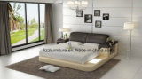 ドバイの現代ホーム家具実質LEDのベッド