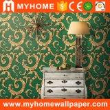 방수 PVC를 가진 아름다운 꽃 다마스크천 벽 종이 벽지