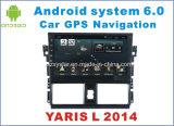 De nieuwe Ui Androïde Navigatie van 6.0 Auto DVD voor Toyota Yaris L met de Speler van de Auto