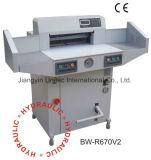 Cortadora innovadora simple de la guillotina del papel de control de programa de los productos Bw-R670V2
