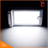 46 de la luz solar LED con sensor de movimiento ultra delgado de la luz de seguridad IP65 Resistente al agua 450 lúmenes con iluminación de la ruta al aire libre Jardín