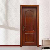 Portello interno di legno della stanza della noce solida su ordinazione (GSP2-074)