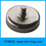 Imán del neodimio Hilo de rosca fuerte M3 / M4 / M6 / M8 / imán del pote
