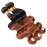 Человеческие волосы дешевой бразильской объемной волны волос девственницы естественные Unprocessed